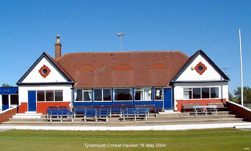 The old Tynemouth cricket pavilion in need of replacement. 18 May 2004